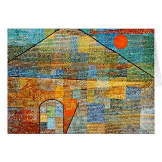 Klee - Ad Parnassus, Paul Klee famous artwork Greeting Card