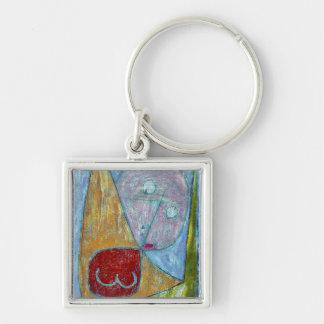 Klee - Angel Still Feminine Silver-Colored Square Keychain