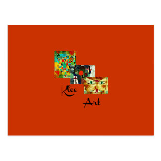 Klee Art - Three Paintings Collage Postcard