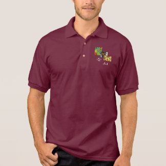 Klee Art with White Text polo shirt