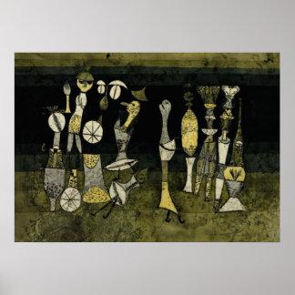 "Klee artwork, ""Comedy"" Poster"