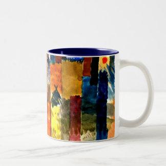 Klee - Before the Town. Paul Klee painting. Two-Tone Coffee Mug