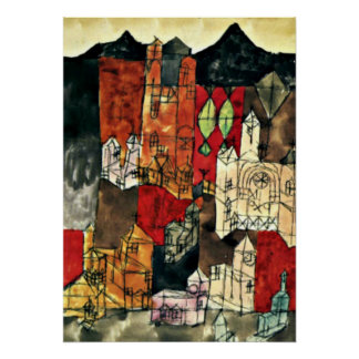 Klee - City of Churches, 1918 Poster
