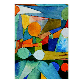 Klee - Colour-Shapes Poster