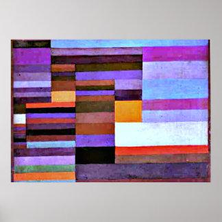 Klee - Fire Evening, 1929 Poster