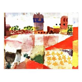 Klee - Hammamet with Mosque Postcard