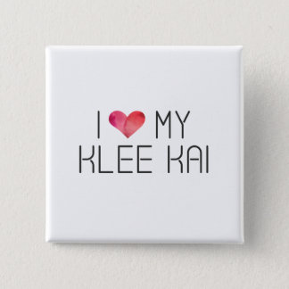 Klee Kai Love Quote 2 Inch Square Button
