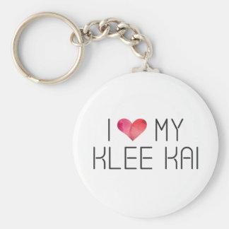 Klee Kai Love Quote Keychain