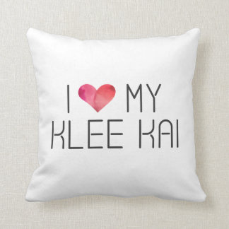 Klee Kai Love Quote Throw Pillow