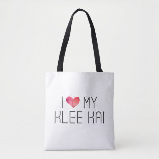 Klee Kai Love Quote Tote Bag