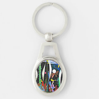 Klee - Landscape with Yellow Birds Keychain