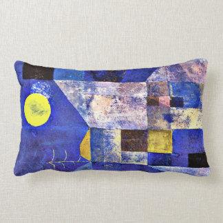 Klee- Moonlight, Paul Klee painting Lumbar Pillow