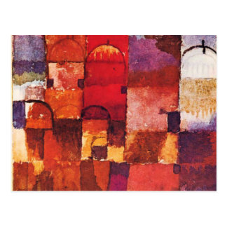 Klee - Red and White Cupolas Postcard