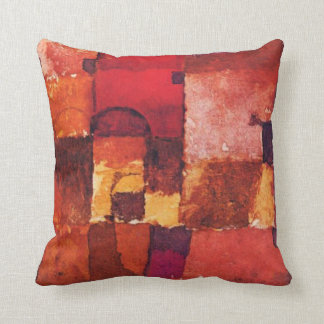 Klee - Red and White Cupolas Throw Pillow