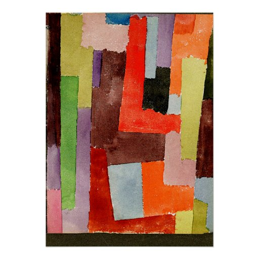 Klee - Right Angles Poster