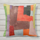 Klee - Right Angles Throw Pillow