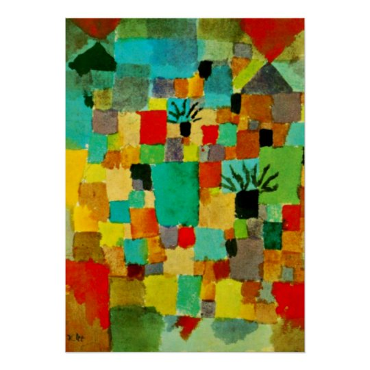 Klee - Southern Tunisian Gardens-1919 Poster