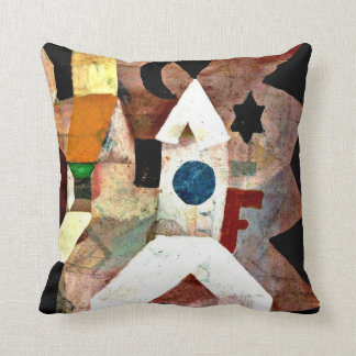 Klee - The Chapel, Paul Klee painting Throw Pillow