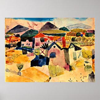 Klee - View of Saint Germain Poster