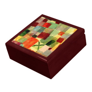 Klee - Watercolor with Dark Green Cross Gift Box