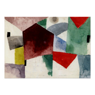 Klee - Weariness in a Spacious City Poster