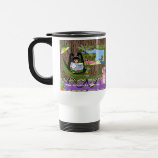 KLeighE and Dharma in Tree House with Bears Travel Mug