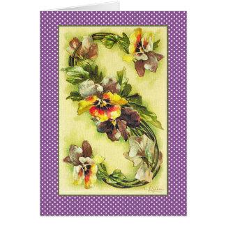 Klein Flower Alphabet Lette S Purple Yellow Pansy Card