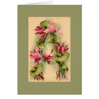 Klein Flower Alphabet  NOTE CARD DKGR