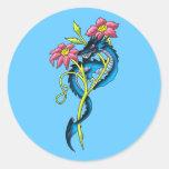 kleiner Drache small dragon Round Sticker