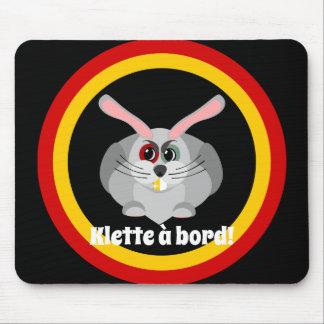 Klette à bord - belgian folklore mouse pad