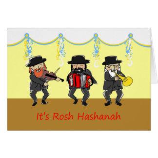 Klezmer Band for Rosh Hashanah, Jewish New Year Card