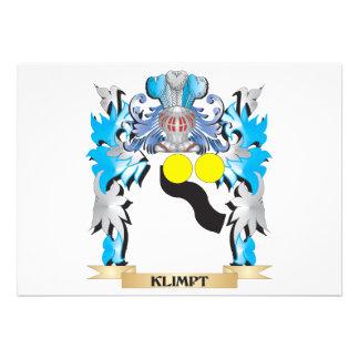 Klimpt Coat of Arms - Family Crest Invite