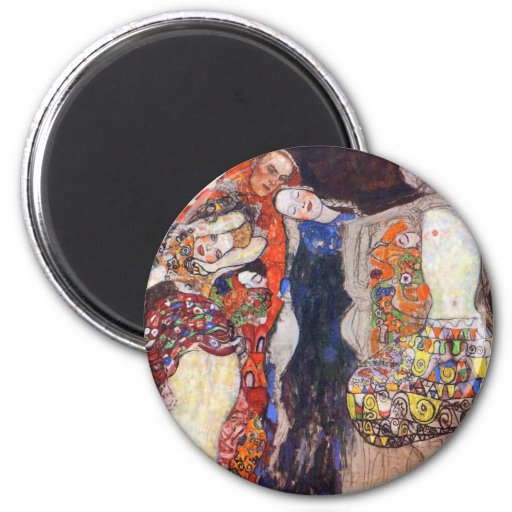Klimt  Adorn the bride with veil and wreath Magnet