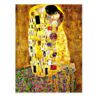 Klimt art - The Kiss, famous painting by Klimt Postcard