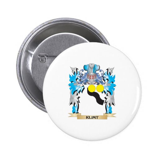 Klimt Coat of Arms - Family Crest Pinback Button