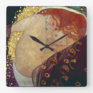 "Klimt ""Danae"" Square Wall Clock"