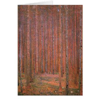 Klimt - Fir Forest I, painting by Gustav Klimt Card