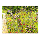 Klimt - Fruit Garden with Roses, Gustav Klimt art Postcard