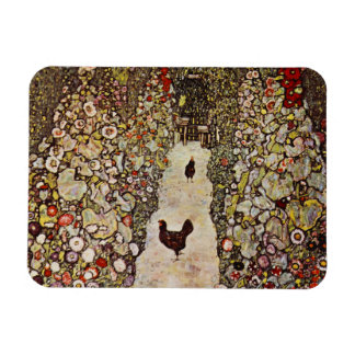 Klimt Garden With Roosters Magnet