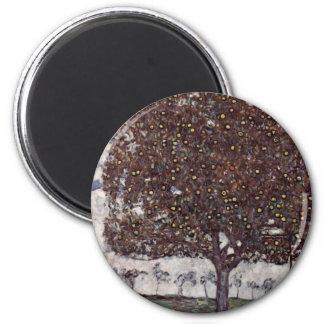 Klimt, Gustav: Apfelbaum II 2 Inch Round Magnet