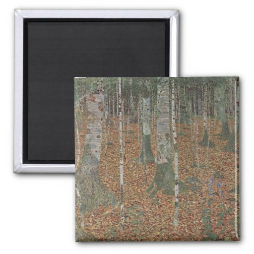 Klimt, Gustav -Birkenwald Magnet