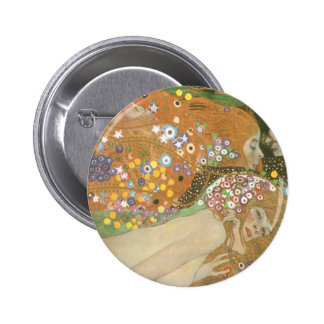 Klimt, Gustav: Wasserschlangen (Freundinnen) II 2 Inch Round Button