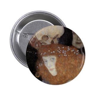 Klimt ~  Hope I  ( detail ) 2 Inch Round Button