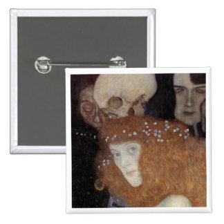 Klimt ~  Hope I  ( detail ) 2 Inch Square Button