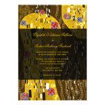 Klimt Inspired Art Nouveau Chic The Kiss Wedding Custom Invitations