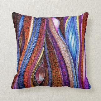 Klimt Meets O'Keeffe Throw Pillow