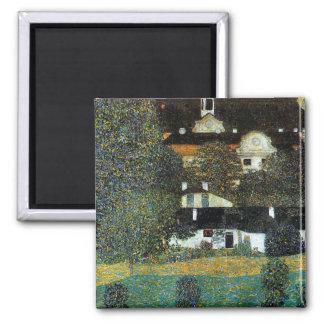 Klimt - Schloss Kammer am Attersee II Square Magnet