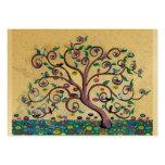 Klimt style tree large business card