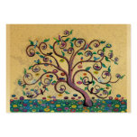 Klimt style tree pack of chubby business cards