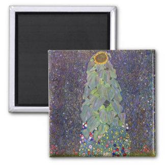 Klimt ~ That is Sonnenblume Square Magnet